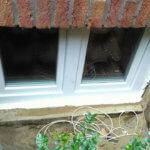 Hochwasserfenster von außen