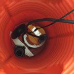 neuer Pumpenschacht mit Drainagepumpe
