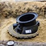 Installation eines Pumpenschachts