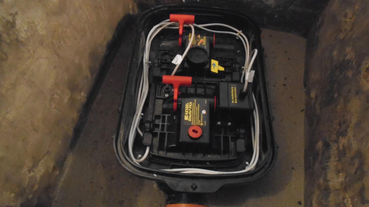 Rückstausicherung in der Bodenplatte