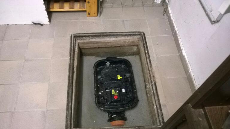 Rückstauvorrichtung in der Bodenplatte