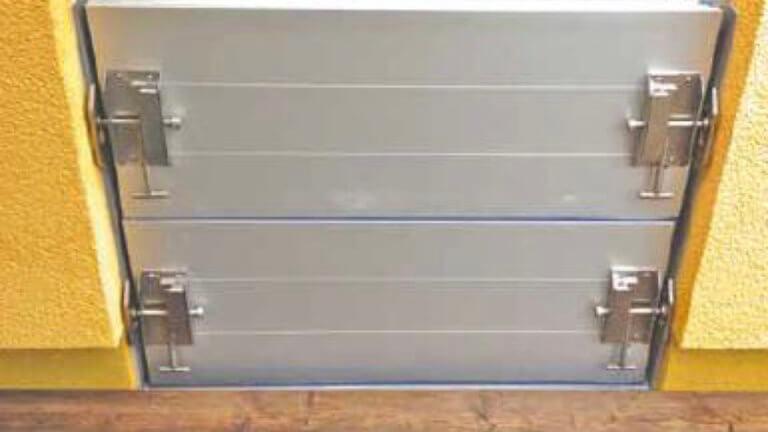 Vertikal angeordnete Modulbauplatten