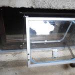 Halbautomatisches Hochwasserfenster, offen